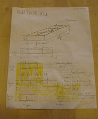 Plan for a rebuild of a trunk top tray