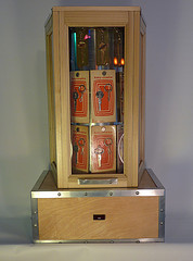 A motorized display cabinet containing