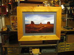 Rustic handcrafted frame for 