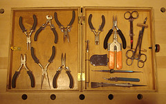 Custom tool kit with internal appurtenances