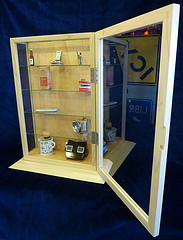 display cabinet glass sides 