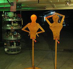 two dimensional anthropomorphic display 