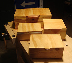 A melange of simple storage boxes which explore various detail choices