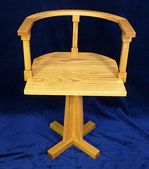 oak chair swivel neo-gothic style