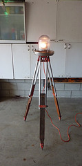rotating beacon light on tripod