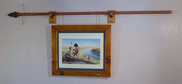Custom frame scavenged lumber recreated spontoon and 