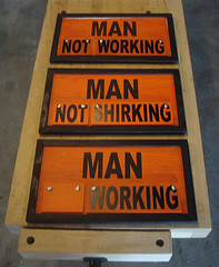 A changeable sign reflecting the four