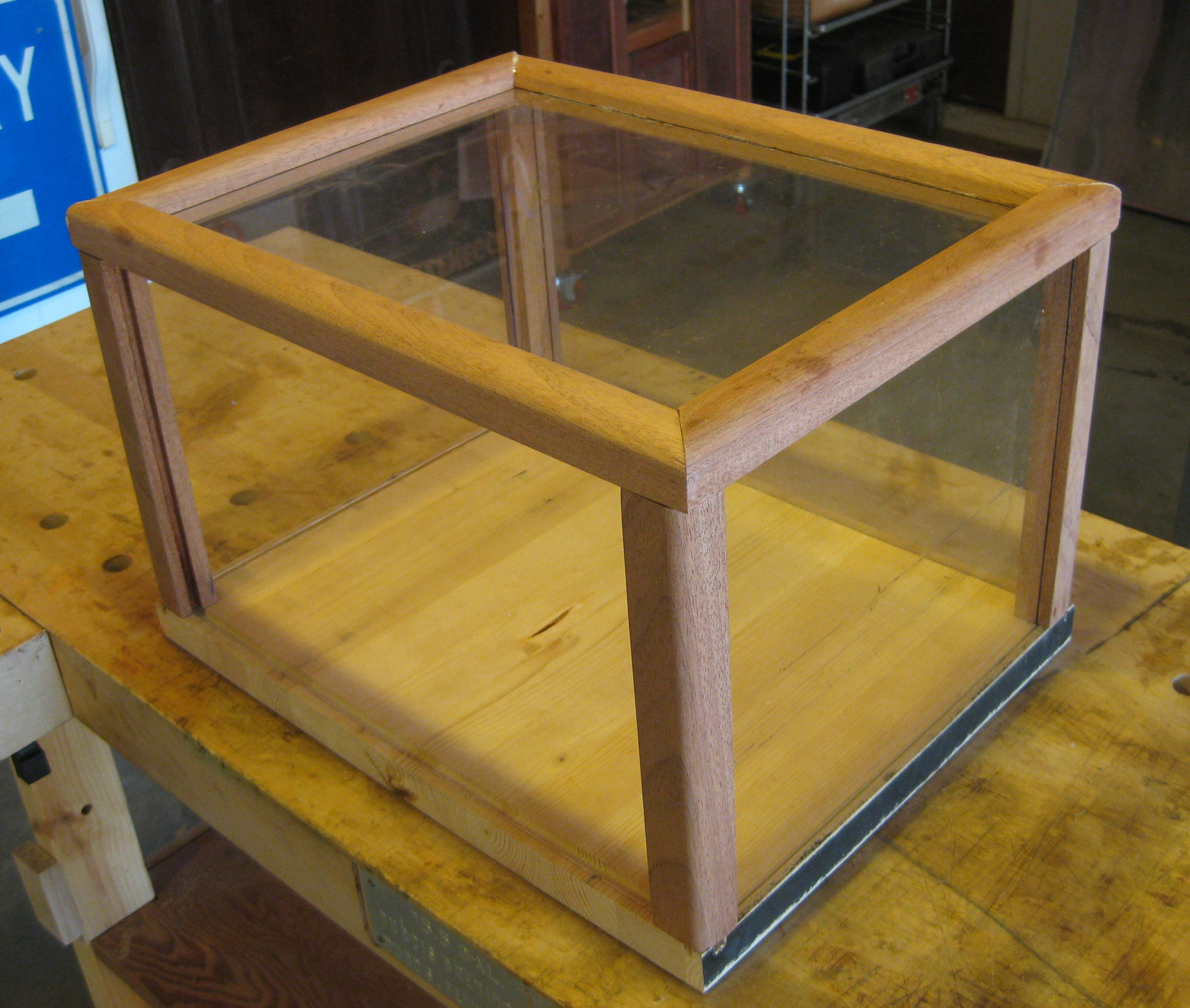 Table top display case - Shown Here Are The Essential Parts Of The Case The Floor Four Uprights And