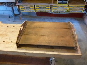 Here's the first tray with new end panels.