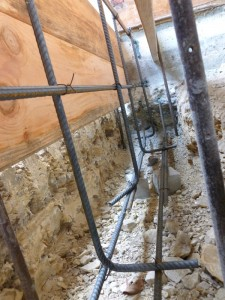 Worm's Eye view of the rebar rigged for 'crete pouring - once it passes inspection...
