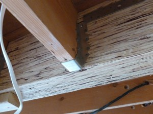 A Simpson hanger on the Big Downstairs Beam.