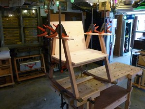 Structurally, once the glue on the arm rests cures, the chair is complete.