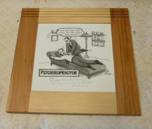 Surplus hickory flooring makes excellent picture frames.