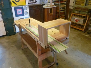 Routing the blind dovetail on the inside bottom of the Prize Cases would have easier BEFORE case glue up.  sigh.