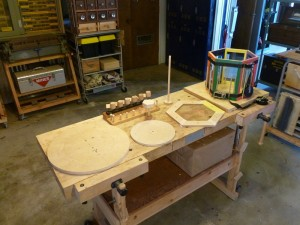 Here arrayed on Gepeto's workbench are the parts of the Hoopladrome.