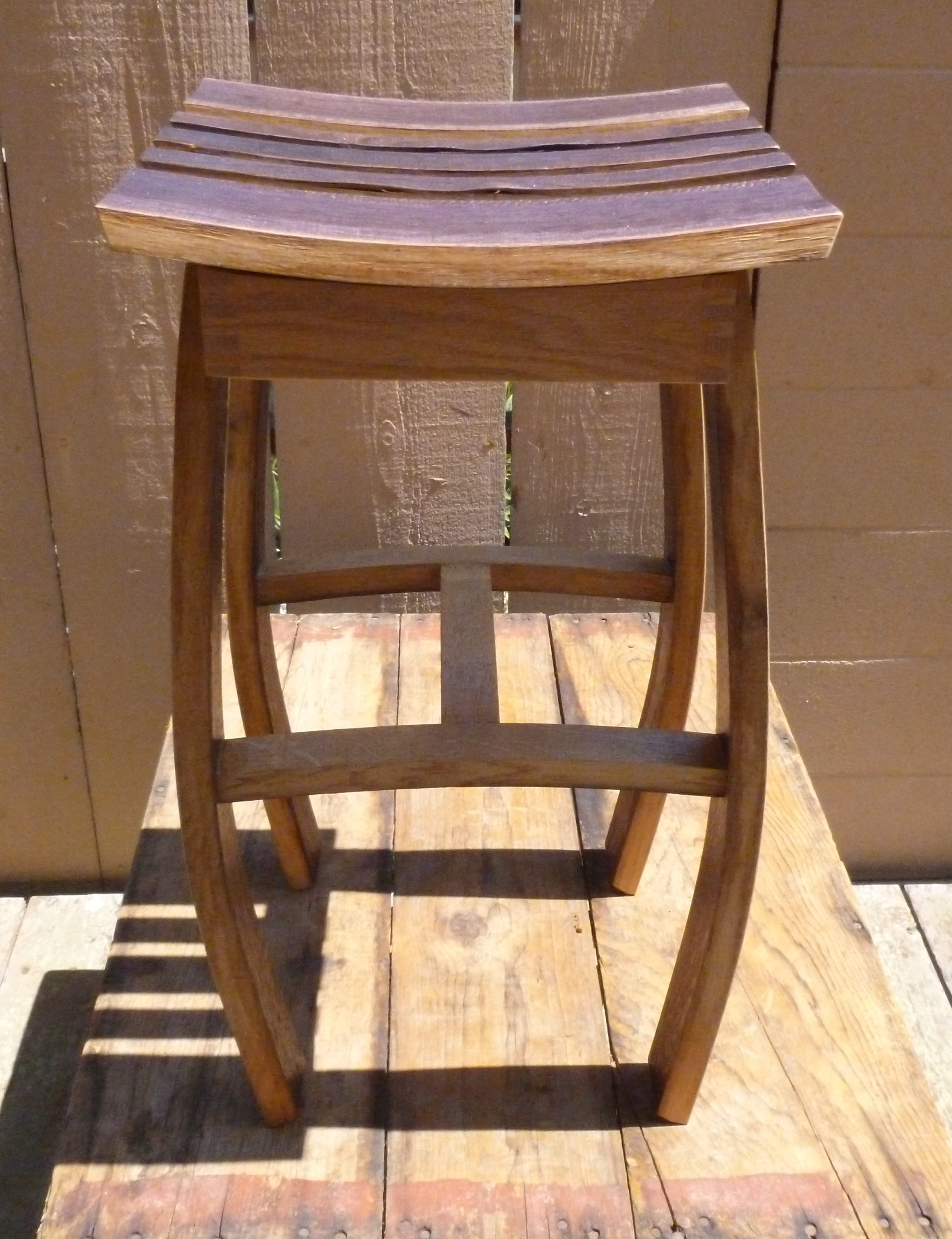 2 Oak Wine Barrel Stave Stool Shorter Johnsonarts