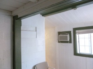 The green painting can wait, as apparently can the 220 volt outlet for the A/C .... until summer, we reckon.