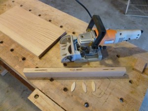 biscuit cutting for replacement shelf