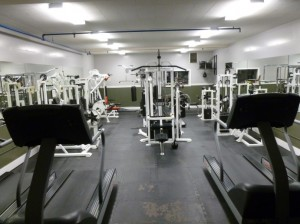 This only one of the five gyms I saw....